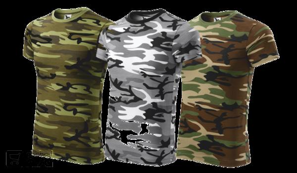 Maskáčové tričko unisex CAMOUFLAGE od 333376c06c1