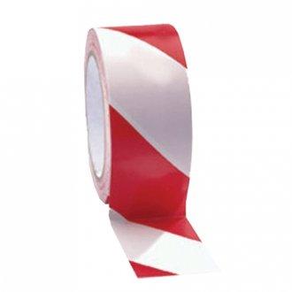 výstražná páska PVC červenobílá LEVÁ