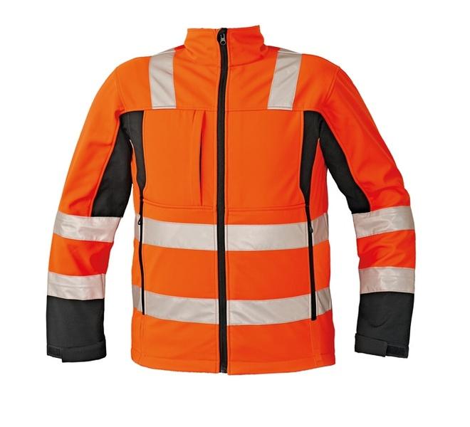 SOFTSHELLOVÁ bunda Malton oranžová XXXL