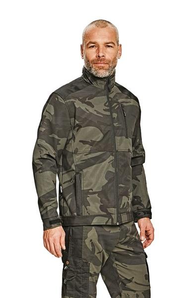 Maskáčová softshelová bunda M camouflage green
