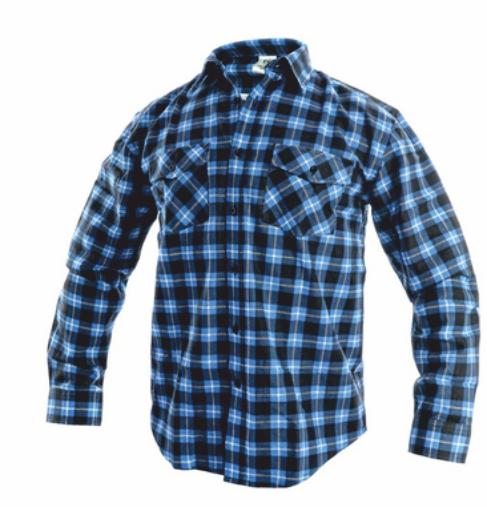 Košile flanelová TOM modrá 42