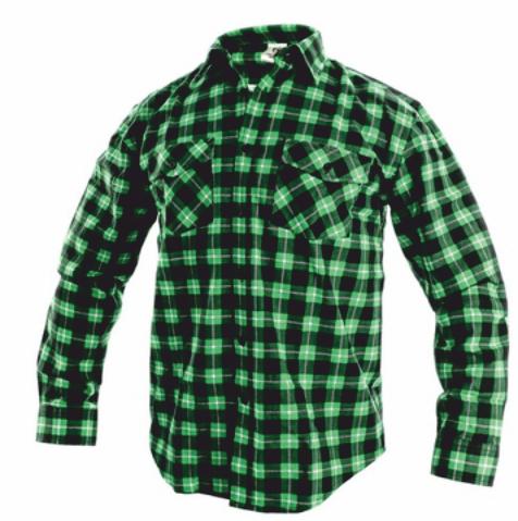 Košile flanelová TOM zelená 42