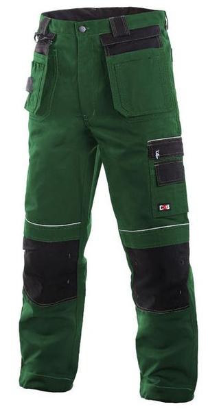Kalhoty TEODOR zeleno černé 46