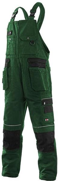 Kalhoty s laclem KRYŠTOF zeleno černé 56