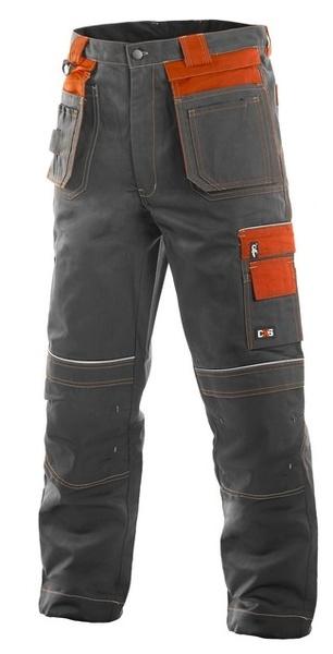 Kalhoty ORION TEODOR šedo/oranžové 48