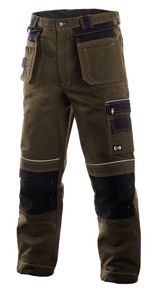 Kalhoty ORION hnědo - černé