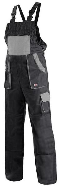 Kalhoty LUX s laclem černo-šedé 56