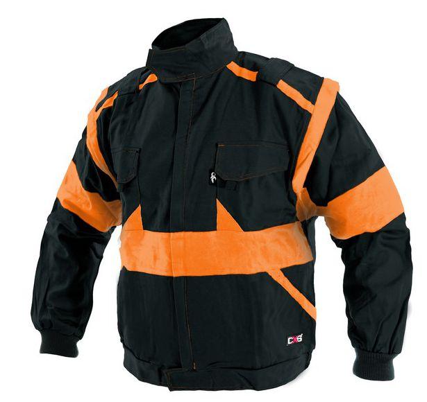 Blůza LUX černo-oranžová 46