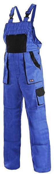 Kalhoty LUX dámské s laclem modré 56