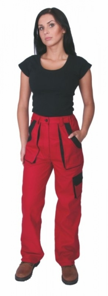 Kalhoty LUX dámské červené 46