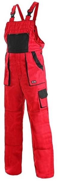 Kalhoty LUX dámské s laclem červené 56