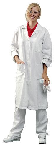Plášť EVA bílý, dlouhý rukáv, dámský 60