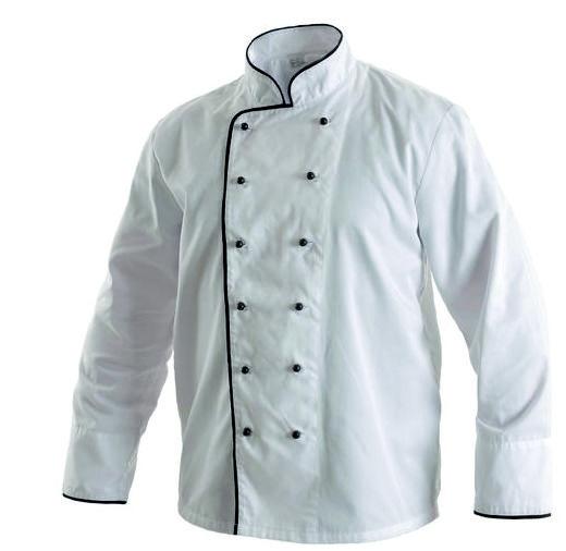 Kuchařský kabát RONDON bílo-černý 44