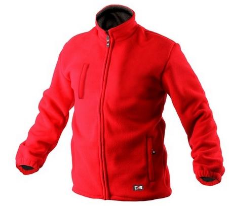 Bunda OTAWA fleecová červená S