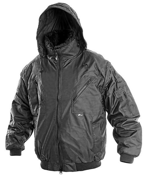 Černá zimní bunda PILOT S
