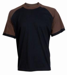 Tričko Leaf Oliver černo-hnědé XL