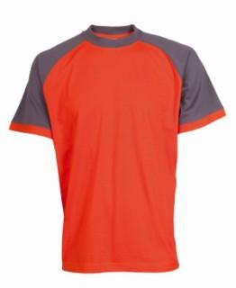 Tričko Leaf Oliver oranžovo-šedé XL