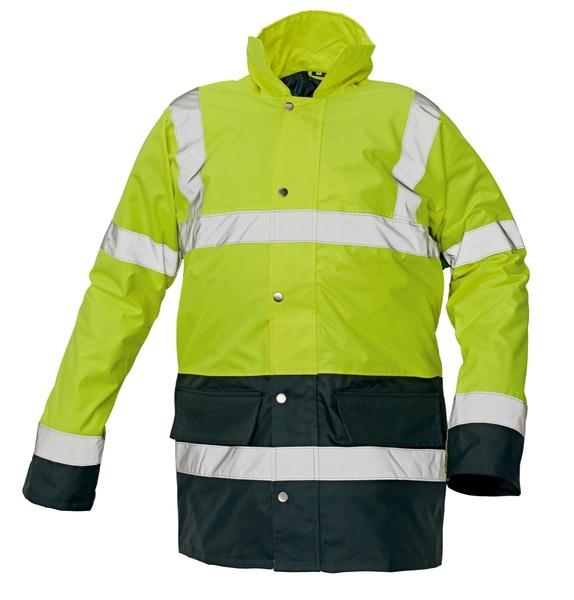 Reflexní bunda zimní SEFTON žlutá