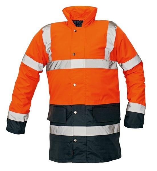 Reflexní bunda zimní SEFTON oranžová M