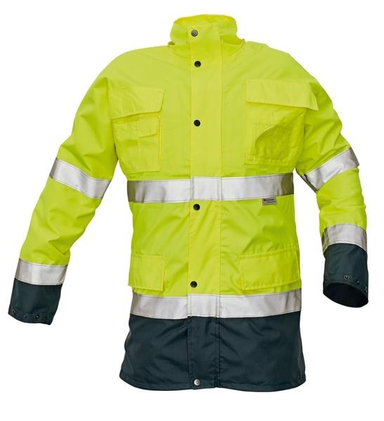 Reflexní zimní bunda MALABAR žlutá