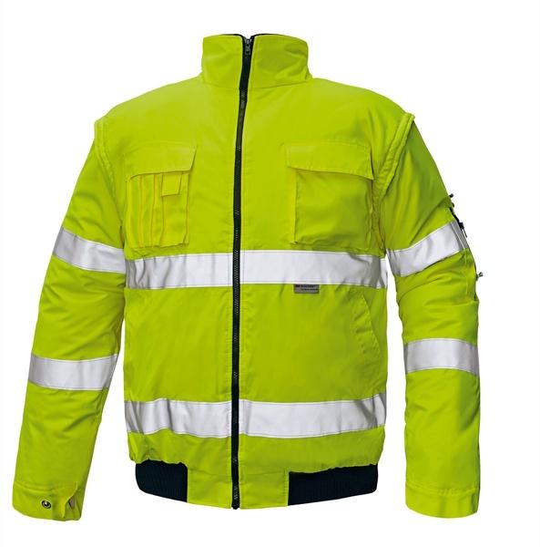 Reflexní bunda zimní CLOVELLY žlutá M