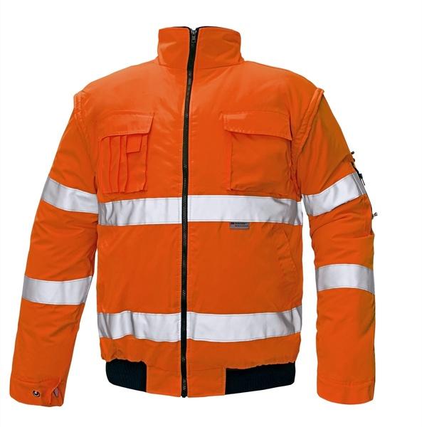 Reflexní zimní bunda CLOVELLY oranžová M
