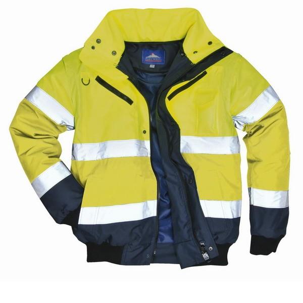 zimní bunda BOMBER žlutá L