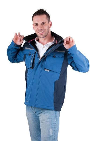 ALLYN softshellová bunda modrá XXXL