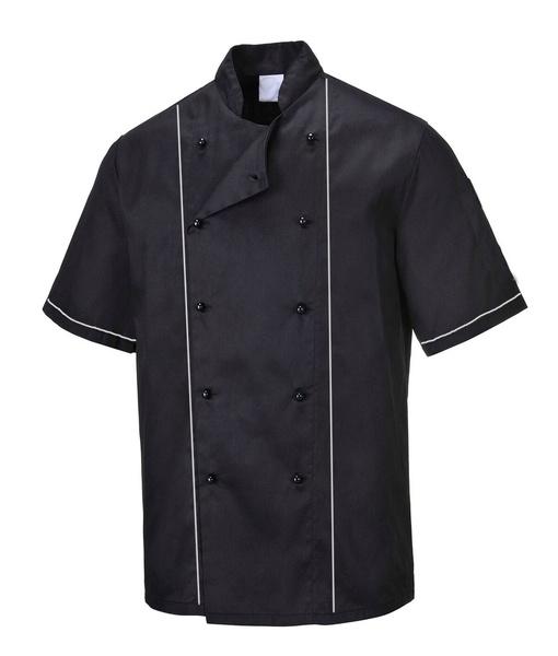 Kuchařský kabát RONDON černý krátký rukáv 44