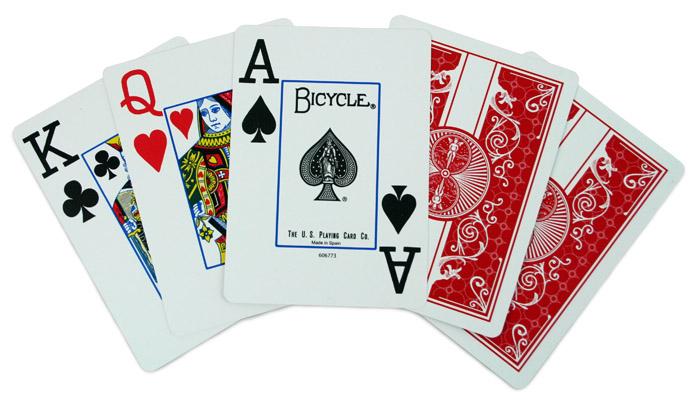 Karty na poker BICYCLE červené