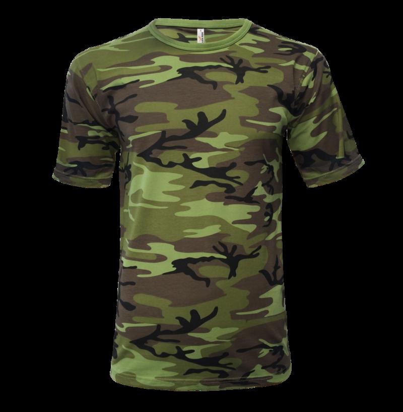 Tričko pánské Military XL camouflage green