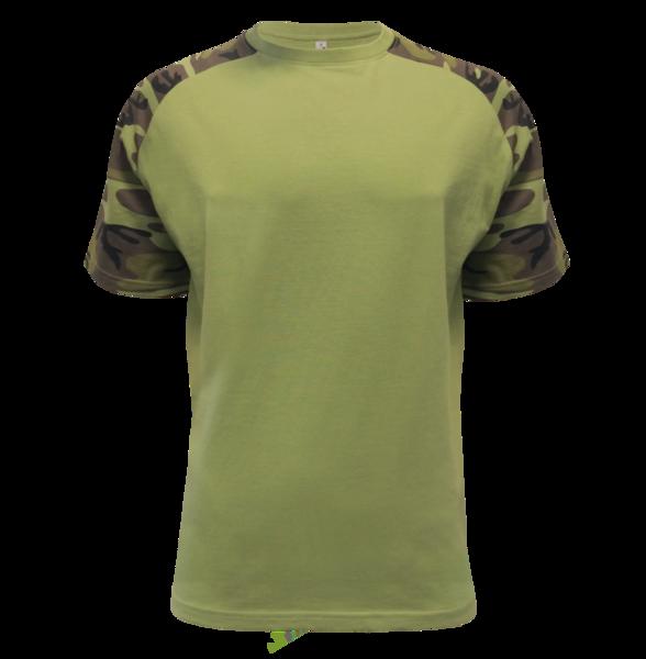 Tričko pánské Raglan Military XL camouflage green