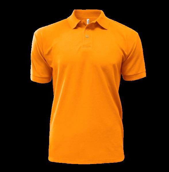 Triko krátký rukáv límeček oranžové S