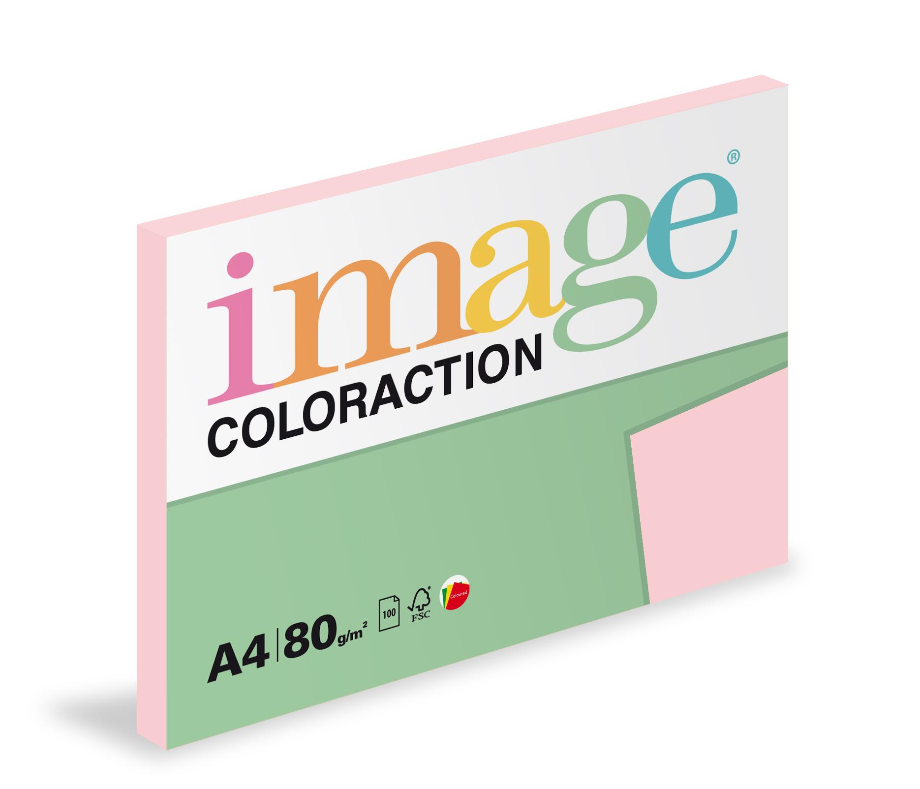 Xerografický papír barevný Coloraction 100 listů - OPI74 tropic / pastelově růžová/ 100 listů
