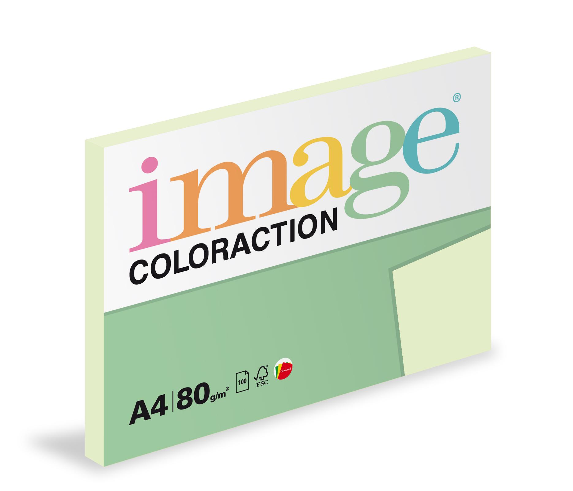 Xerografický papír barevný Coloraction 100 listů - GN27 jungle / pastelově světle zelená / 100 listů