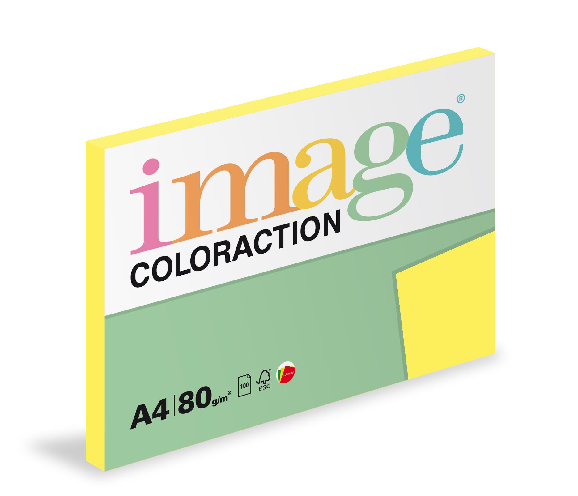 Xerografický papír barevný Coloraction 100 listů - CY39 canary/ středně žlutá / 100 listů