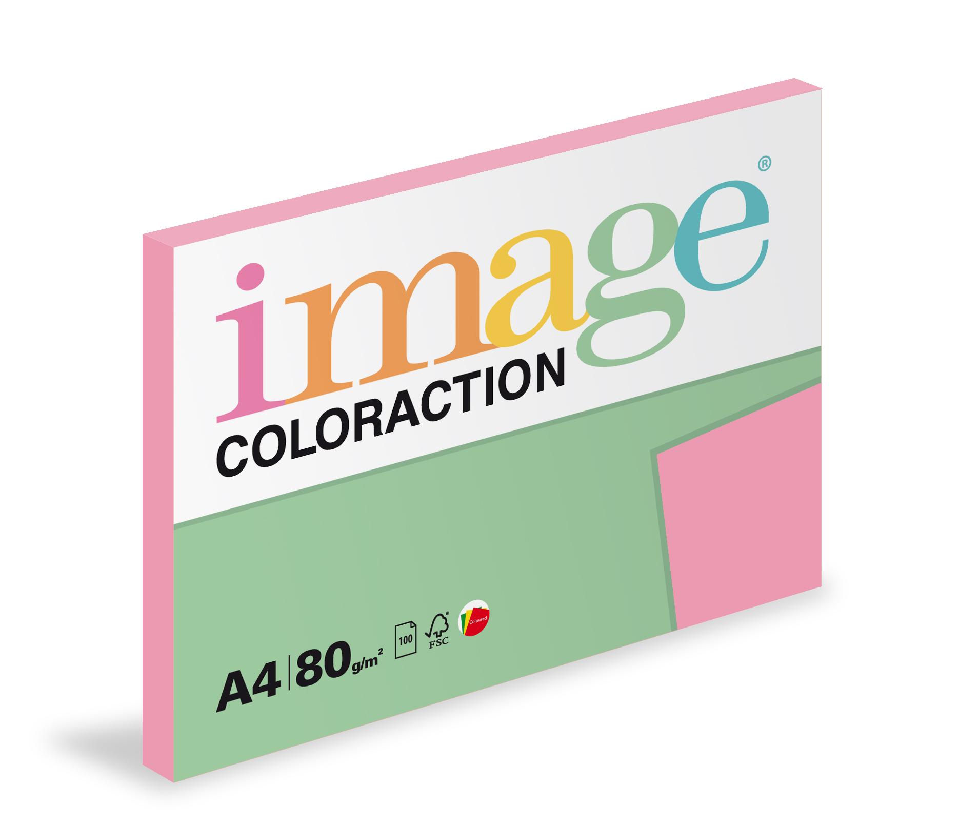 Xerografický papír barevný Coloraction 100 listů - PI25 coral / starorůžová / 100 listů