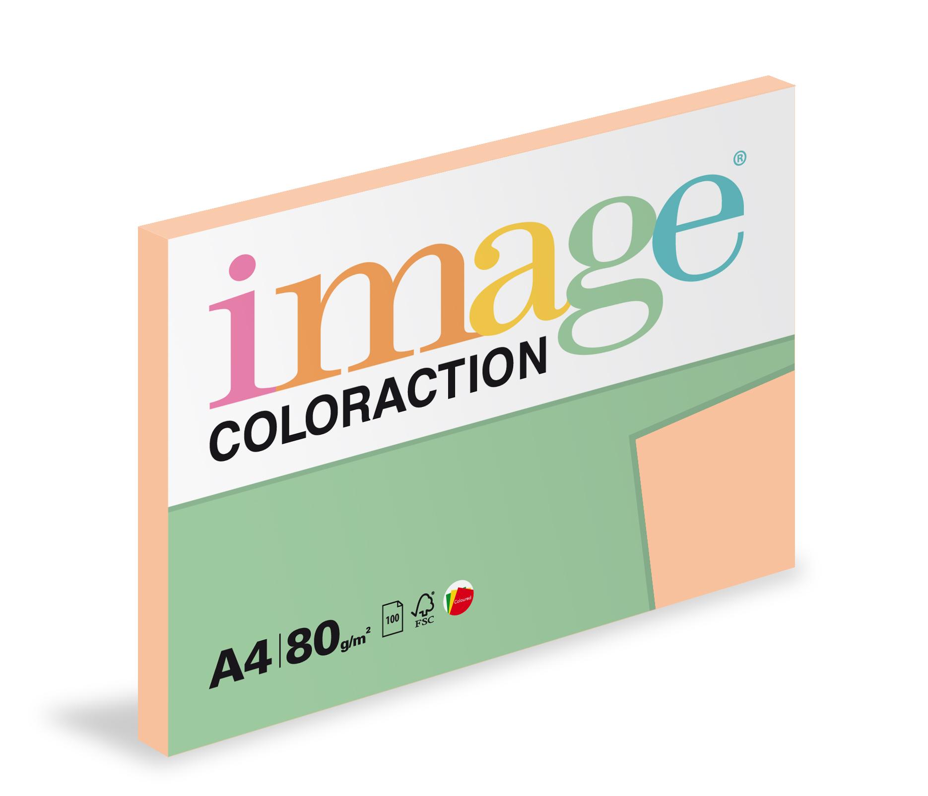 Xerografický papír barevný Coloraction 100 listů - SA24 savana / meruňková / 100 listů
