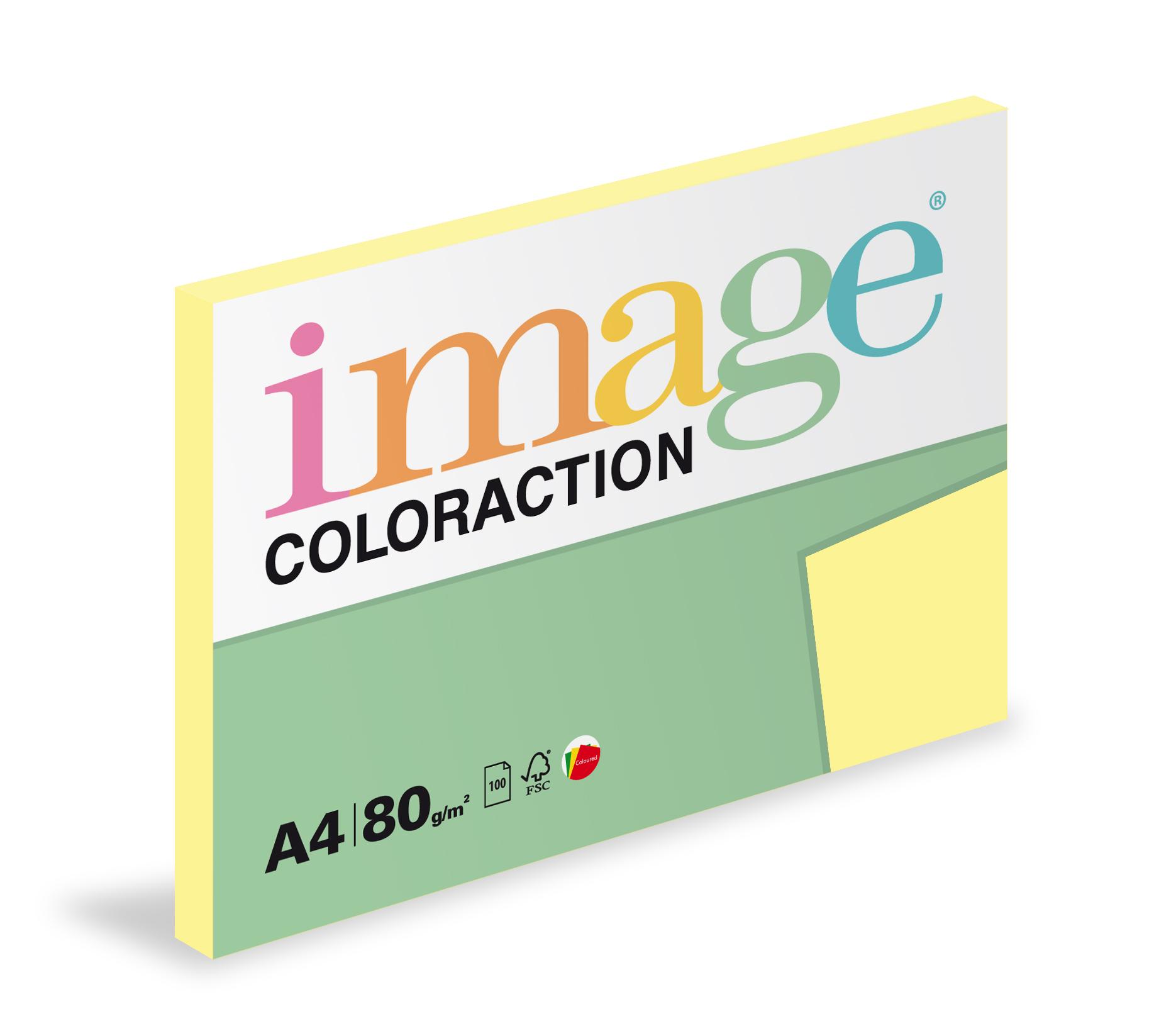 Xerografický papír barevný Coloraction 100 listů - YE23 desert / pastelové žlutá / 100 listů