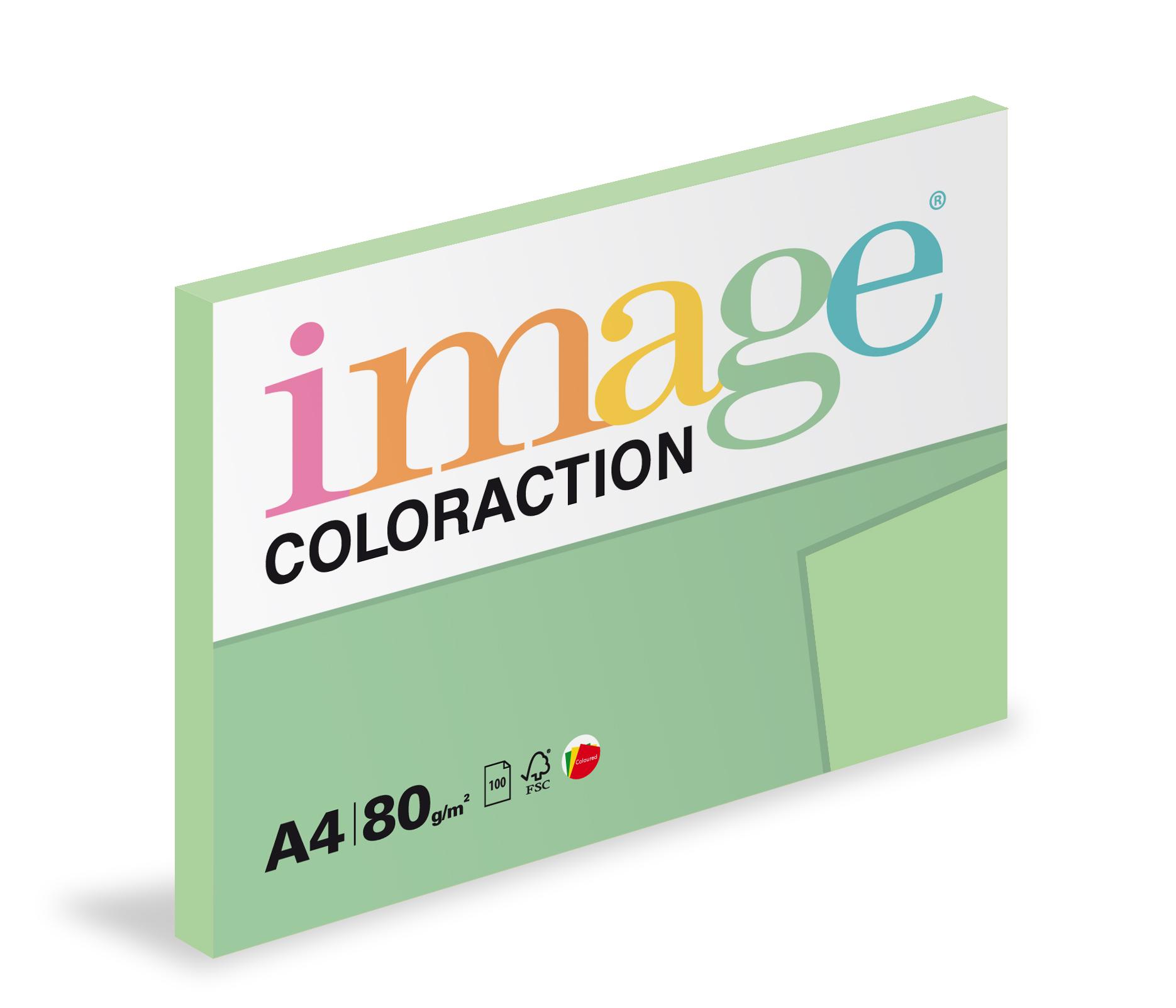Xerografický papír barevný Coloraction 100 listů - MG28 forest / pastelově zelená /100 listů