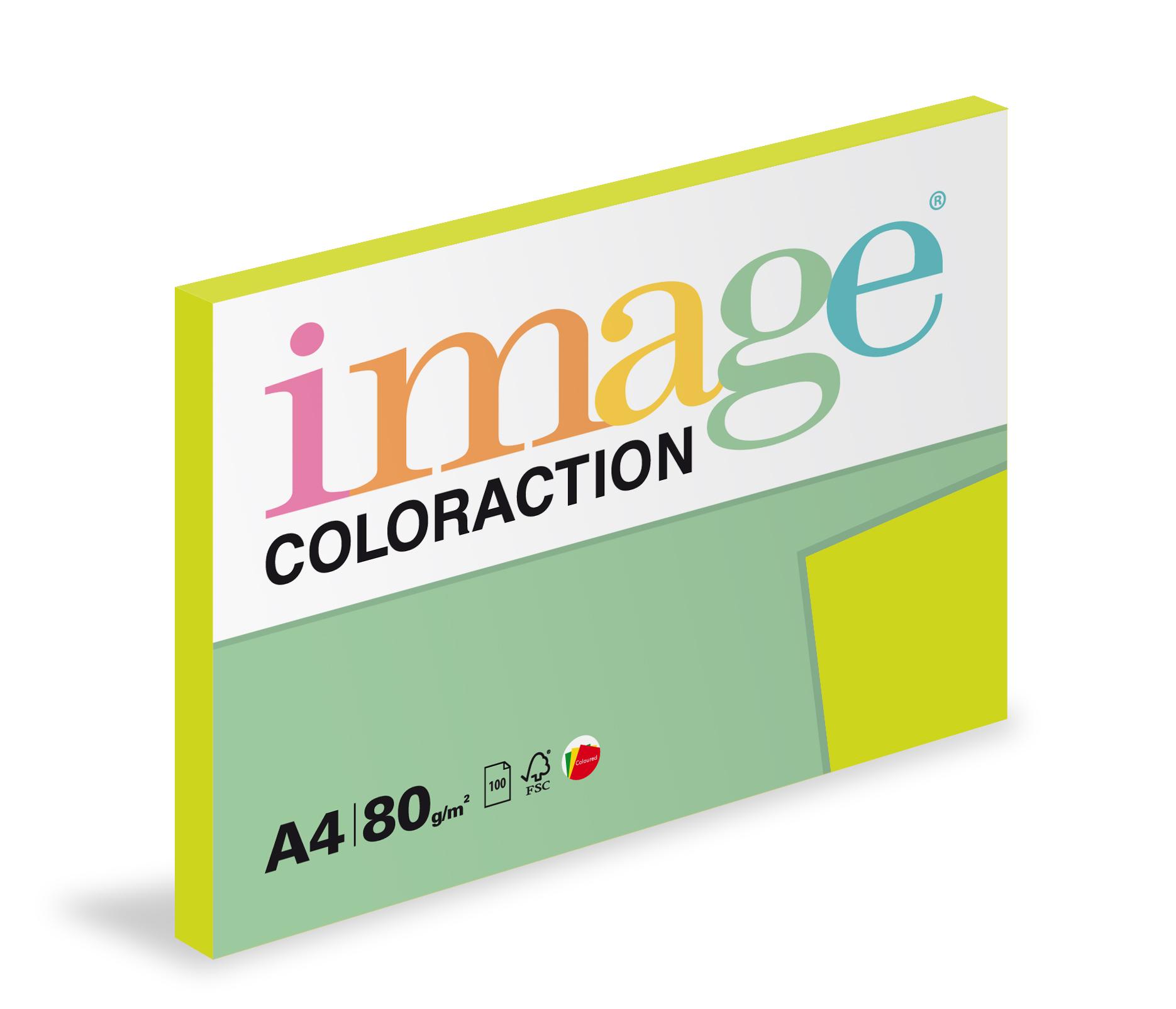 Xerografický papír barevný Coloraction 100 listů - NeoGr Rio / reflexní zelená / 100 listů