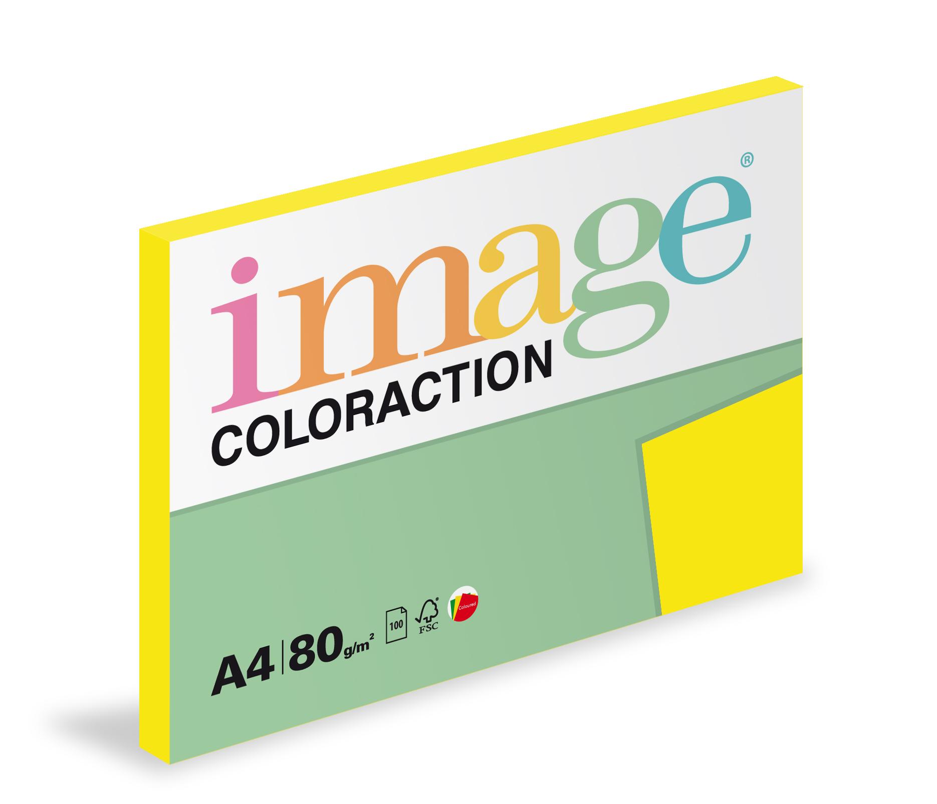 Xerografický papír barevný Coloraction 100 listů - IG50 sevilla / sytě žlutá / 100 listů