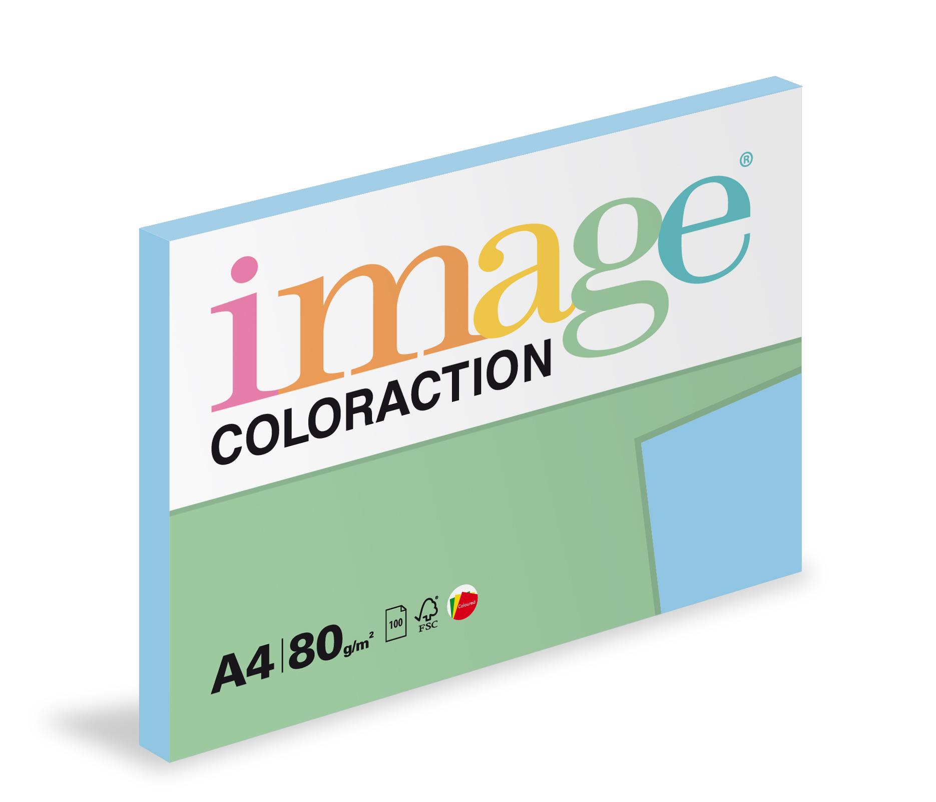 Xerografický papír barevný Coloraction 100 listů - OBL70 iceberg/ ledově modrá / 100 listů