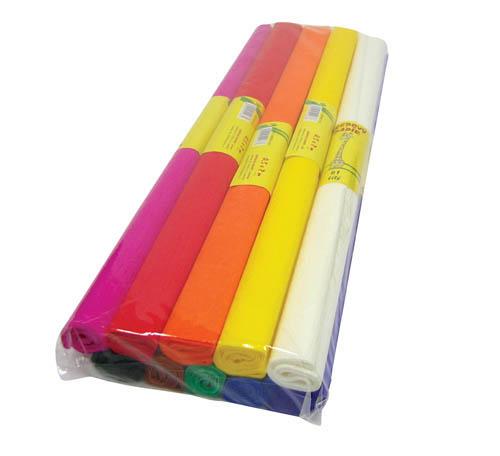 Krepový papír - sada 10 ks / barevný mix