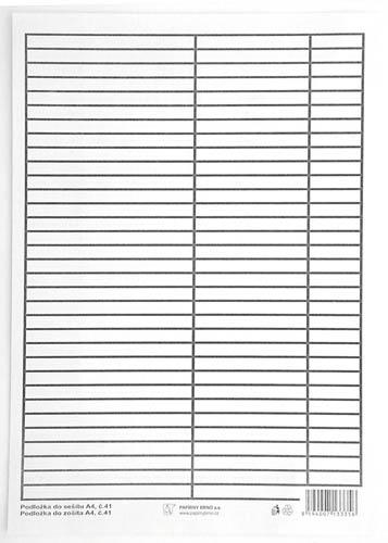 Podložky do sešitů papírové + PVC - podložka A4 / linka - linka / papírová