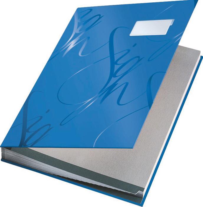 Designová podpisová kniha Leitz - modrá