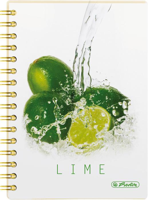 Blok College Fresh Fruit Herlitz - A5 / 100 listů/ čtvereček / Limetka