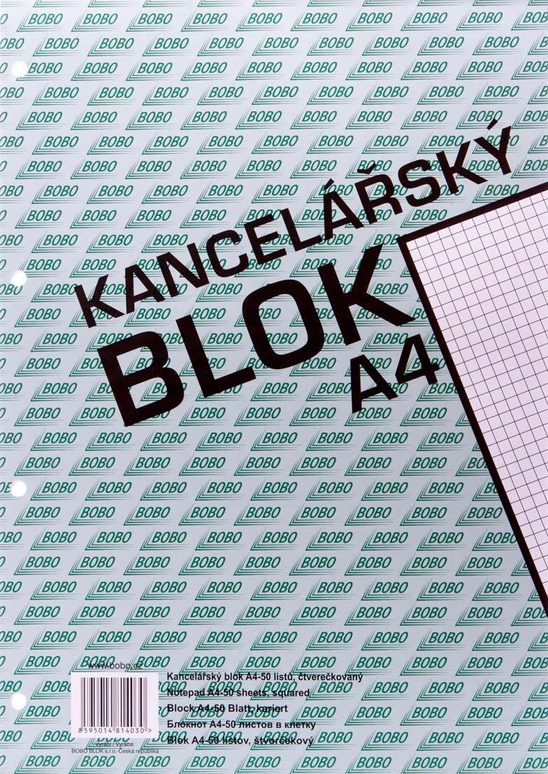Blok kancelářský BOBO - A4 / čistý