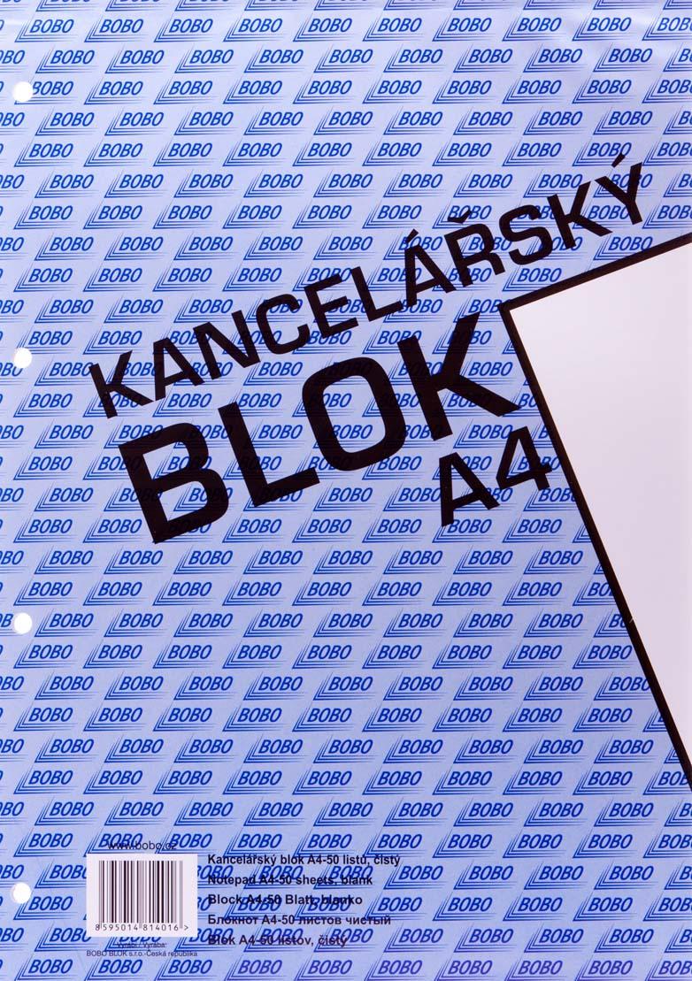 Blok kancelářský BOBO - A4 / čtvereček