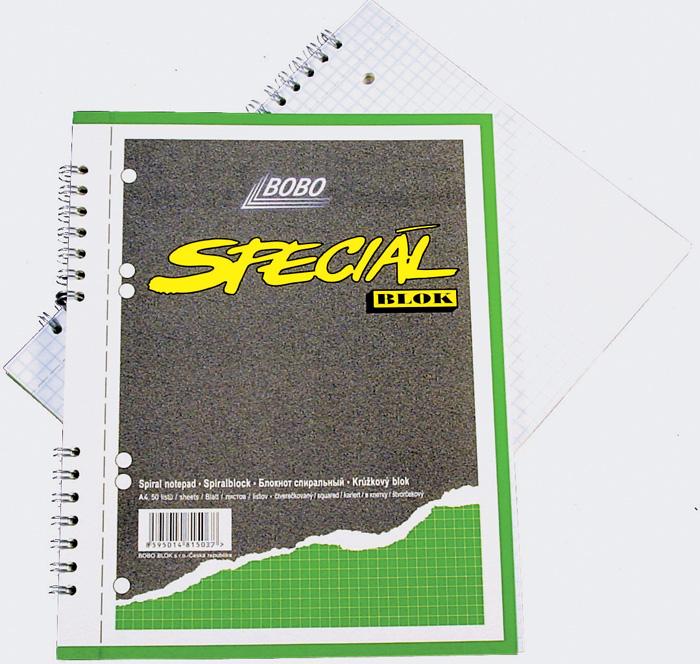 Blok BOBO speciál - A4 / čtvereček